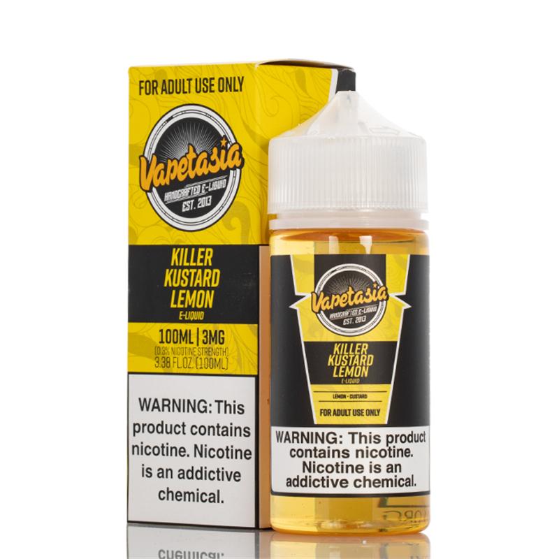 killer kustard lemon - vapetasia - 100ml - bottle and box