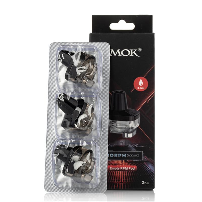 smok morph pod-40 empty cartridges packaging