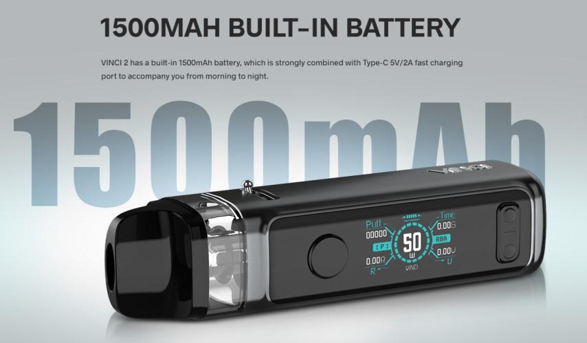 vinci 2 1500mah long battery life