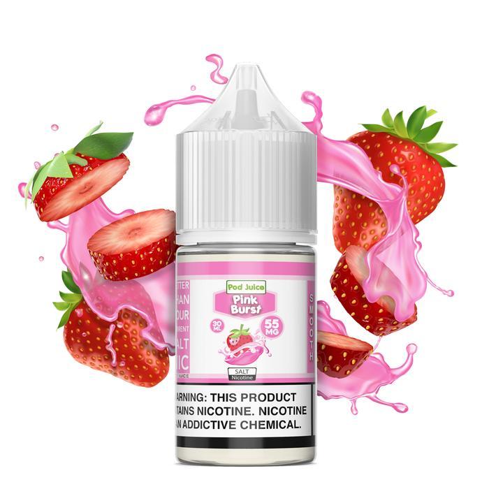 Pod Juice Salts Series Pink Burst E-juice 30mL