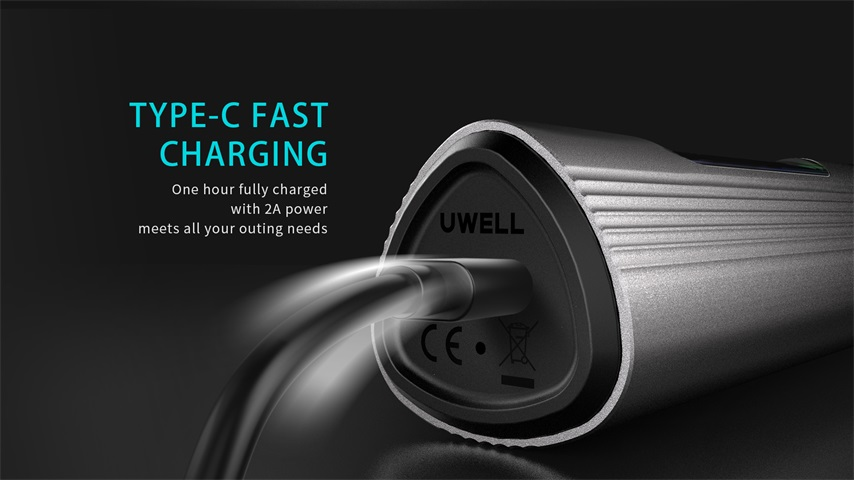 Uwell WHIRL T1 charging by Type-C