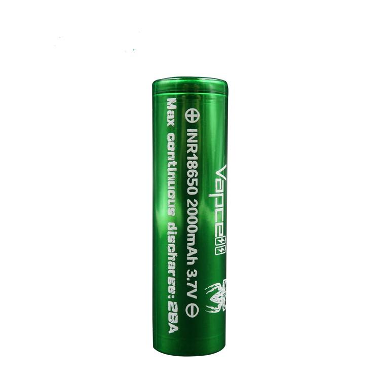 Vapcell INR 18650 Battery 3.7V 28A 2000mAh 1