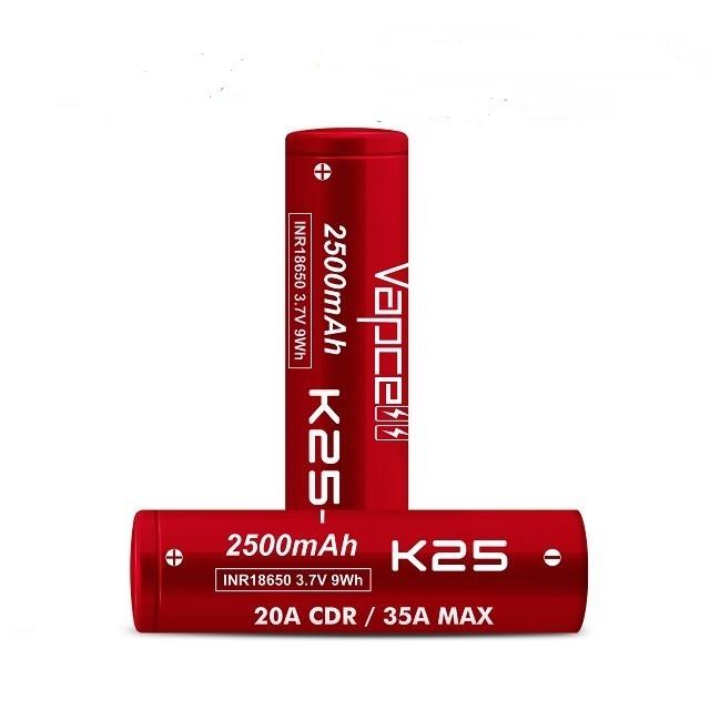 Vapcell K25 18650 Battery 3.7V 35A 1