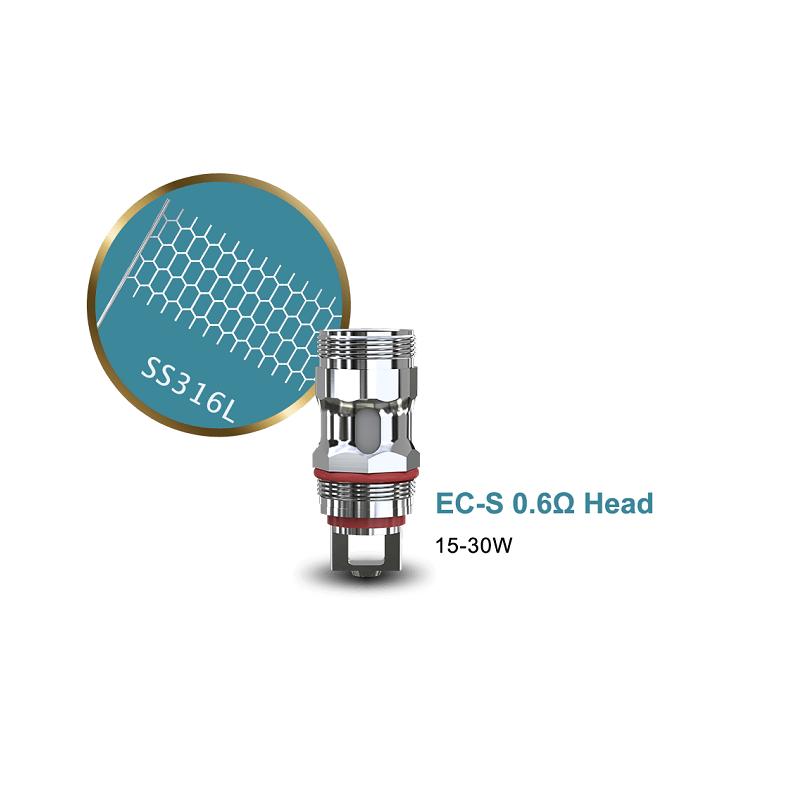 Eleaf EC-S 0.6ohm Coil Head (5pcs/pack)