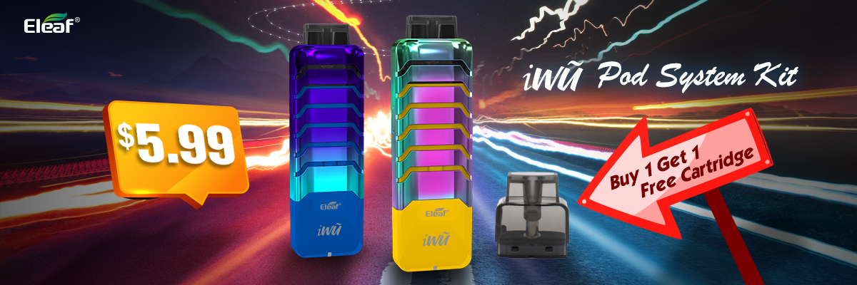 Eleaf iWũ Pod System Kit Buy 1 Get 1 Free Replacement Pod Cartridge