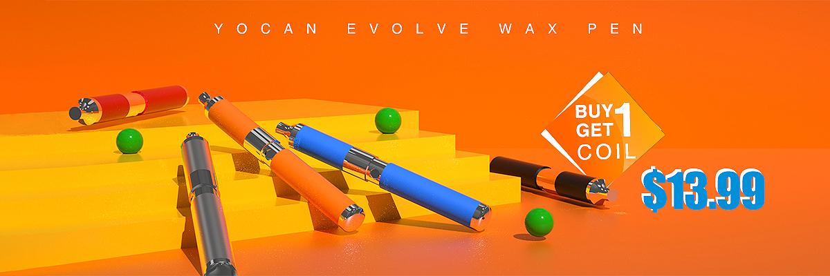 Yocan Evolve Wax Pen Buy 1 Get 1 Coil $13.99