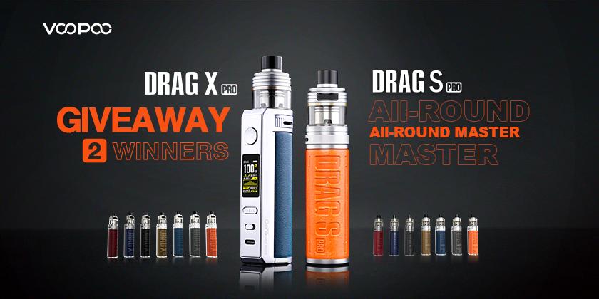 VOOPOO Drag S Pro & Drag X Pro Kit Giveaways!
