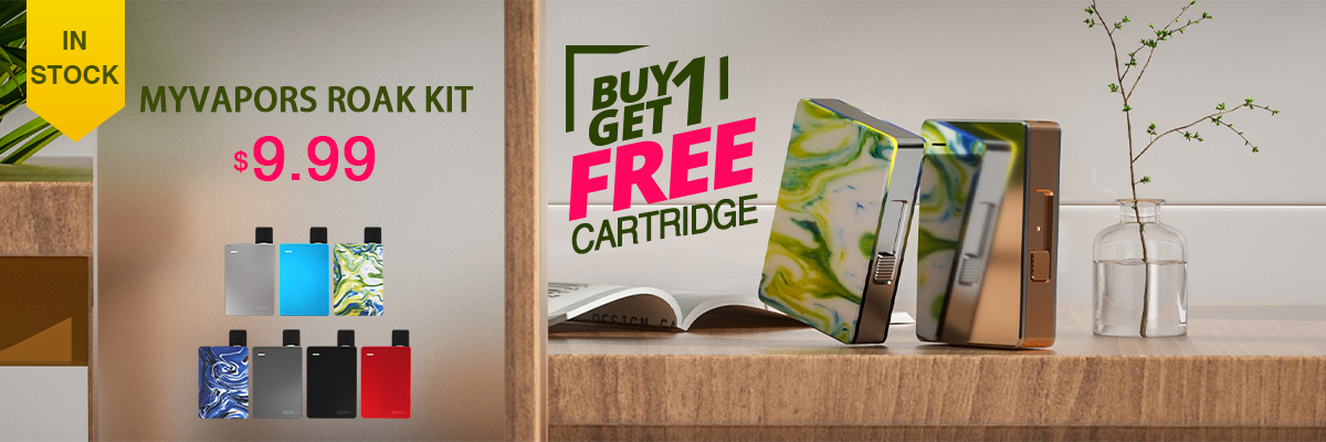Myvapors Roak Box Pod Kit Buy One Get One Free Cartridge